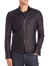 John Varvatos Double Zip Moto Jacket