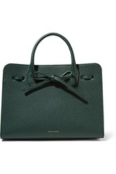 Mansur Gavriel Sun Mini Textured Leather Tote Forest Green