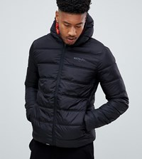 Sixth June Puffer Jacket With Hood In Black Exclusive To Asos