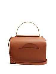 Roksanda Ilincic Signature Leather Bowling Bag Brown Multi