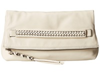Frye Jenny Foldover Clutch Off White Soft Vinage Leather Clutch Handbags