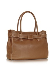 Buti Large Leather Tote Brown