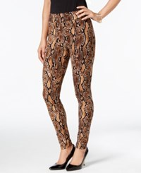 Thalia Sodi Snake Print Leggings Only At Macy's Snake Brown
