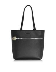 Giorgio Fedon 1919 Amelia Black Leather Tote Bag