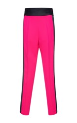 Zuhair Murad High Waisted Tuxedo Cady Trousers Pink