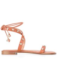 Red Valentino Studded Sandals Brown
