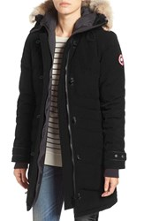 Canada Goose Women's 'Lorette' Hooded Down Parka With Genuine Coyote Fur Trim Black