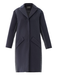 Cedric Charlier Colour Block Seam Detail Coat