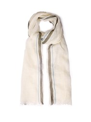 Denis Colomb Toosh Cashmere And Linen Blend Scarf White