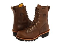 Chippewa 8 Bay Apache Waterproof Lace To Toe Logger Brown Men's Work Boots