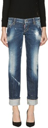 Dsquared Blue Sexy Rolled Up Flare Jeans