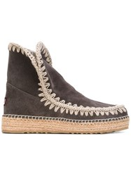 Mou Eskimo Boots Women Chamois Leather Leather Foam Rubber 37 Grey