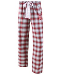 Concepts Sport Oklahoma Sooners Forge Flannel Pants Crimson White
