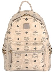 Mcm 'Stark' Mini Backpack Nude And Neutrals