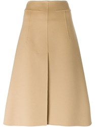 Jil Sander A Line Midi Skirt Nude And Neutrals