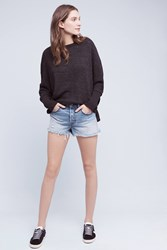 Anthropologie Levi's Wedgie Icon High Rise Shorts Denim Light