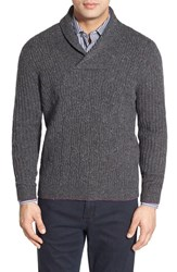 Men's Tommy Bahama 'Kingside' Cable Knit Shawl Collar Wool Sweater