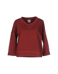 Douuod Topwear Sweatshirts Women Brick Red
