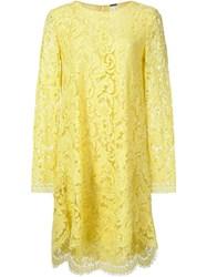 Adam By Adam Lippes Adam Lippes Scalloped Hem Party Dress Yellow And Orange