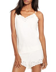 Lauren Ralph Lauren Knit Camisole And Shorts Pajama Set Ivory