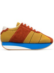 Marni Multi Coloured Suede Mesh Sneakers Multicolour