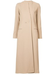 Maiyet Long Coat Dress Women Spandex Elastane Viscose Wool 000 Brown