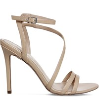 Office Nadine Faux Patent Sandals Nude Patent