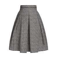 Rumour London Chevron Midi Skirt Black