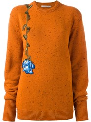 Christopher Kane Lost And Found Crew Neck Jumper Yellow And Orange