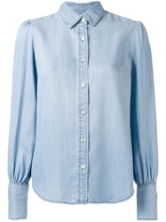 Frame Denim Button Down Shirt Blue