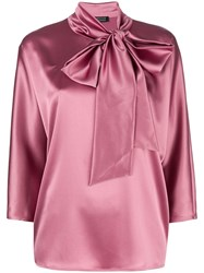 Gianluca Capannolo Bow Tie Blouse Pink And Purple