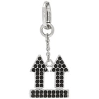 Off White Silver And Black Crystal Arrow Single Earring