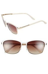 Women's Bcbgmaxazria 'Destiny' 54Mm Sunglasses White