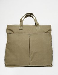 Asos Backpack With Tote Hybrid Khaki Green