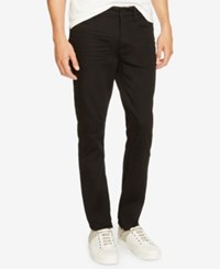 Kenneth Cole New York Men's Douglas Stretch Black Wash Skinny Jeans