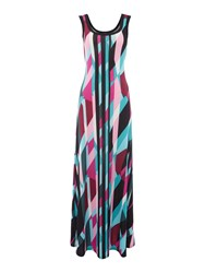 Simon Jeffrey Printed Vest Maxi Dress Green