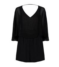Pinko Overlay Georgette Playsuit Female Black