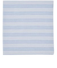 Simonnot Godard Men's Vertical Stripe Cotton Handkerchief Light Blue White Navy Light Blue White Navy