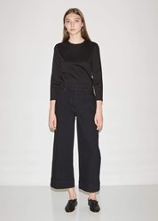 The Row Edna Cropped Jean Black