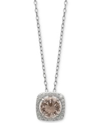 Giani Bernini Cubic Zirconia Halo 18 Pendant Necklace In Sterling Silver Created For Macy's