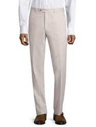 Saks Fifth Avenue Microfiber Trousers Taupe