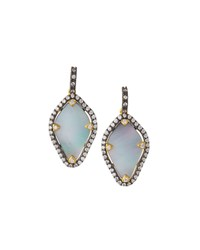 Freida Rothman Pave Crystal Pearlescent Amorphous Drop Earrings Women's