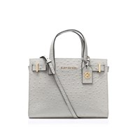 Kurt Geiger Ostrich London Tote Grey Light