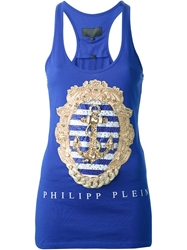 Philipp Plein 'Summer Time' Tank Top Blue