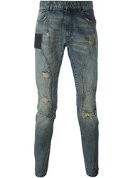 Faith Connexion Distressed Skinny Jeans Blue