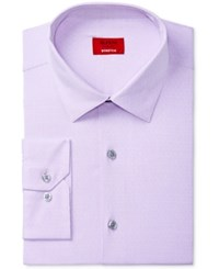 Alfani Men's Slim Fit Performance Stretch Easy Care Pattern Dress Shirt Created For Macy's Purple