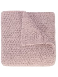 Rachel Comey Fuzzy Knit Blanket Scarf Pink And Purple
