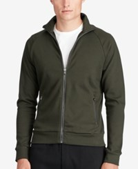 Polo Ralph Lauren Men's Leather Trim Jacket Green