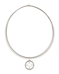 Alor Spring Coil Cable And Diamond Pendant Necklace Gray