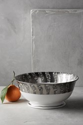 Anthropologie Tempio Luna Serving Bowl Silver